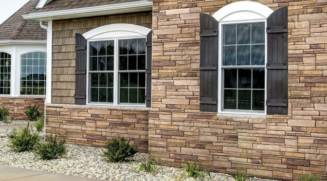 Home siding, brick and stone finishes